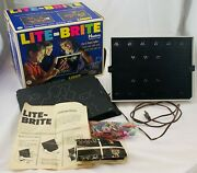 1967 Lite Brite With 20+ Sheets, Bag Of Pegs, Working In Great Cond Free Ship