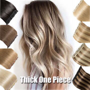 Russian Sale One Piece 100 Remy Human Hair Extensions Clip In 3/4full Head Long
