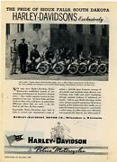 1945 Harley Davidson Police Motorcycles Ad Sioux Falls, South Dakota Officers