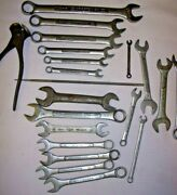 Tools 21pc Wrench Craftsman, Workline, Sears, Fuller And 1 Unbranded Old Tool