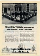 1946 Harley Davidson Police Motorcycles Ad Bayonne, New Jersey Officers Picture