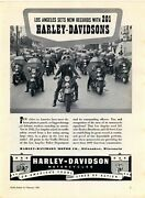 1943 Harley Davidson Police Motorcycles Ad Los Angeles Police Officers Picture