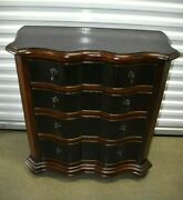 Ethan Allen Tuscany Lucca Serpentine Chest 4 Drawer Black 32-9311 Circa 2006 A