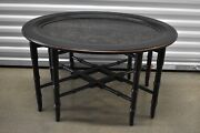 Ethan Allen Collector's Classics Chinoiserie Oval Tray Table Black 13-8230 2003
