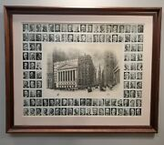 Ny Stock Exchange Trinity Church Wall St. By Rick Rumell - Moses King 43 X 35