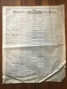 Rare 1882 Newspaper Anti-morman Meeting In Chicago Illinois Against Polygamy