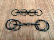 Old Iron Horse Bits Hand Forged Unique Carved Horse Bridle 2pc Indian Home Decor