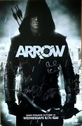 Stephen Amell Katie Cassidy Autographed Signed Arrow 2012 Comic-con Sdcc Poster