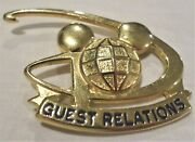 Walt Disney World Guest Relations Mickey Mouse Icon Globe Cast Costume Pin