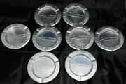 Vintage Fly Piper Planes Ashtray, Set Of 8, Aluminum Vintage Advertising