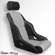 1985-94 Porsche 911 Rally Gt Sport Seat. Leatherette/houndstooth