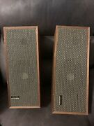 Vintage Rare Realistic Solo 4 Speakers 2 Cabinets With Speakers