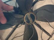 Vintage 1931 Westinghouse Oscillating Metal Fan In Perfect Working Condition