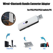 Wired+bluetooth Gameing Handle Converter Adapter For Ps5/ps4/ps3/switch/pc
