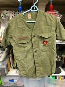 Vintage Boy Scout Shirts No Size Looks Small- No 33 Patch Army Green Look