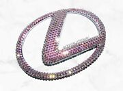 Emblem For Lexus W/ Genuine Crystals Crystallized Front Rear Badge Bling Car