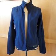 Rei Womenandrsquos Sport Jacket Black Poly M To L Full Zip Soft Shell Fitness Hiking