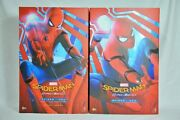 Hot Toys Marvel Spider-man Homecoming Normal And Deluxe Edition Lot Of 2 Figure