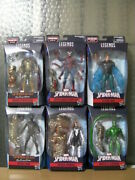 Marvel Legends Molten Man Completed Spider-man Scorpion Mysterio Lot Of 6 Figure