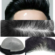 Mens Toupee Ultra Thin Skin Mens Unit Super Thin Men Replacement System