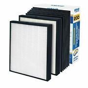 New Veva Premium 2 Hepa Replacement Filter Pack 6 Activated Carbon Pre Filters