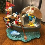 Vintage Disney Donald Duck The Sea Scout Musical Snow Globe