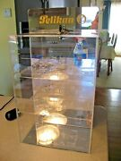 Vintage Pelikan Retail Pen Display Case With Lock And Key - Display Your Pens