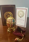 Joan Rivers - Imperial Treasures Iii The Angel Egg - Necklace Box Papers