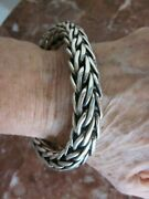 Special Edition John Hardy Sterling Silver 163.20g Thick Woven Chain Bracelet
