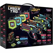 Rechargeable Laser Tag Set + Innovative Lcds And Sync – Pack Of 4 Infrared Gun