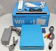 Nintendo Wii Limited Edition Blue Video Game Console Home System Rvl-101 0z