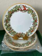 Fitz And Floyd St Nicholas Set Of 4 Dinner Plates Excellent