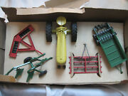 Early Hard To Find 1950's Tru-toy No. 7-150 Die Cast Metal Farm Implement Set