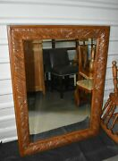 Ethan Allen Tuscany Large Carved Wall Mirror Wood 36 X 48 Beveled 32-5300 A