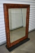 Ethan Allen Tuscany Large Carved Wall Mirror Wood 36 X 48 Beveled 32-5300 B