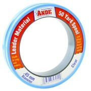 Ande Fishing Line Fcw50-60 Clear Fluorocarbon Monofilament Leader 50 Yards 60 Lb