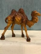 Vintage Hand Painted Nativity Figurine Italy Camel Composite Replacement