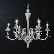 Chandelier Classic Contemporary Wooden A 6 Lights Bga 3158-6