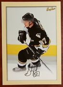 2005-06 Sidney Crosby Ud Beehive 5x7 Box Top Insert Facs Autograph Rookie R1