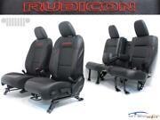 Jeep Wrangler 4dr Jl Rubicon Black Leather Red Embroidery New Seats 2018 - 2021