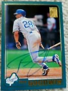 Tom Goodwin Auto Autographed Signed 2001 Topps Card Dodgers Royals Rangers Cubs