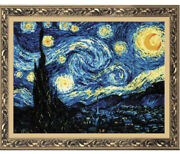 Riolis 1088 - Starry Night After Van Goghand039s Painting - Counted Cross Stitch X 26