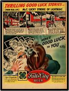 Falls City Beer Of Louisville Kentucky Vintage Look New Metal Sign Large Size