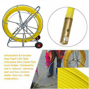 New 12mm 250m/ 820ft Fiberglass Wire Cable Running Rod Duct Fishtape Puller