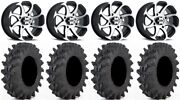 Itp Twister 14 Wheels Machined 30 Outback Max Tires Kawasaki Mule Pro Fxt
