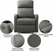 Cheap Leather Recliner Sofa Manual Single Couch Reclining Chair Home Furniture