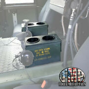 2 Military Humvee Cup Holders Holds 4 Cups Center Console M998 Ammo Can