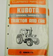07909-52770 Kubota Illustrated Parts List. Model M8950 Tractor And Cab