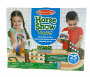 Melissa And Doug Horse Show Play Set Train And Jump 25 Pieces