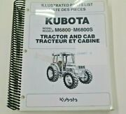 97898-21982 Kubota Illustrated Parts List. For M6800 M6800s Tractor And Cab